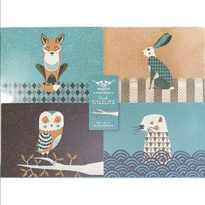 Magpie Dusk Wildlife Placemats -Set of 4 Tom Frost